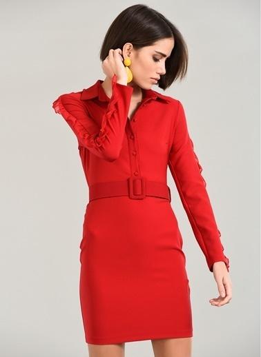 Fırfır Detaylı Elbise-People By Fabrika